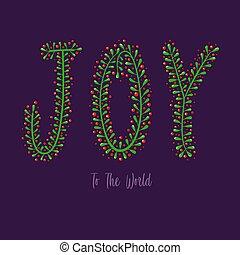 alegria, tipografia, mundo