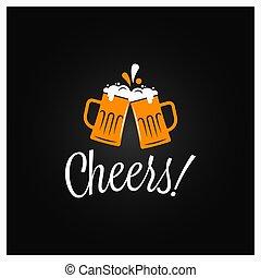 alegrias, lettering, cerveja, banner.