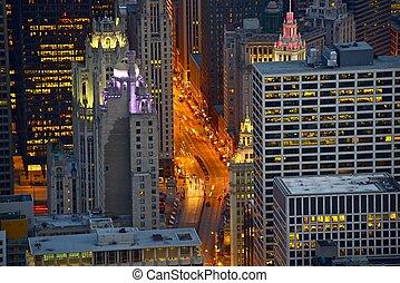 aleja michigan, chicago