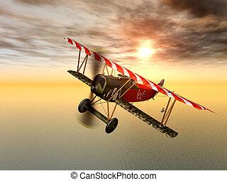 alemán, avión, luchador