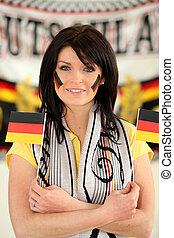 alemán, fútbol, partidario