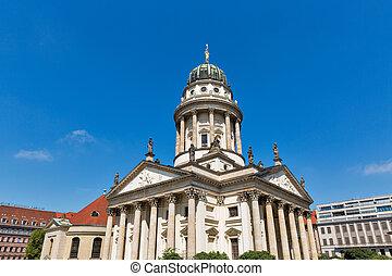 alemán, gendarmenmarkt, germany., berlín, iglesia