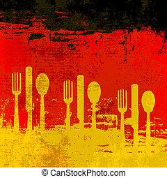 alemán, plantilla menú