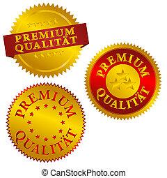 alemán, prima, calidad, sellos
