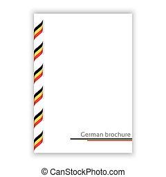 alemán, tricolor, ilustración, vector, folleto, cinta blanca