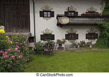 alemão, casa, alpes