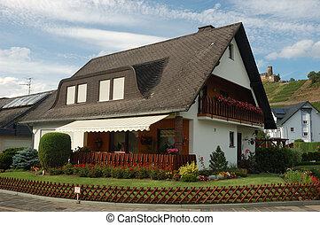 alemão, casa, vila