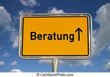 alemão, consultar, sinal estrada