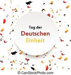 alemão, der, dia, deutschen, unidade, tag, einheit, design.
