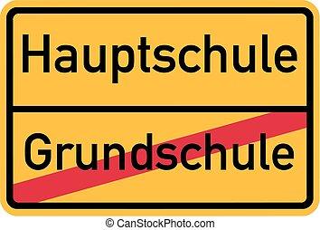 alemão, escola detalhada, elementar
