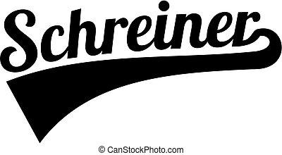 alemão, estilo, cabinetmaker, retro