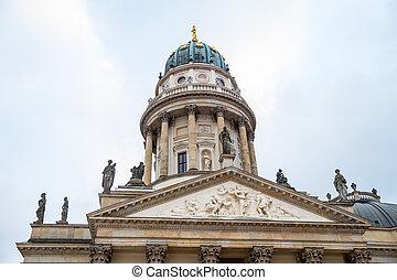 alemão, gendarmenmarkt, berlim, alemanha, igreja