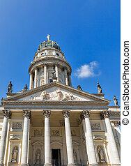 alemão, gendarmenmarkt, germany., berlim, igreja