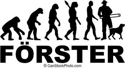 alemão, guarda-florestal, evolução, trabalho, título