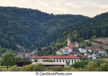 alemão, schwarzwald, vila