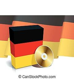 alemão, software, caixa, e, cd