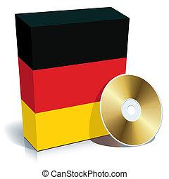 alemão, software, caixa
