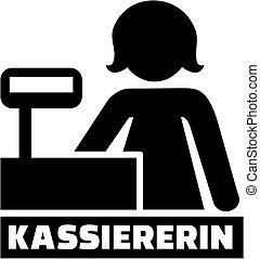 alemão, trabalho, ícone, caixa, título