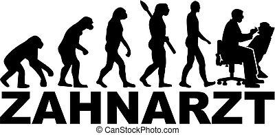 alemão, trabalho, evolução, odontólogo, título