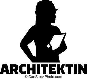 alemão, trabalho, mulher, arquiteta, título