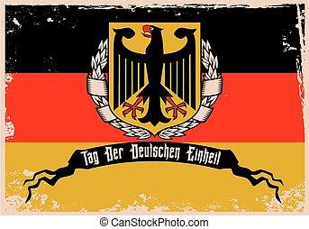 alemão, unidade, dia