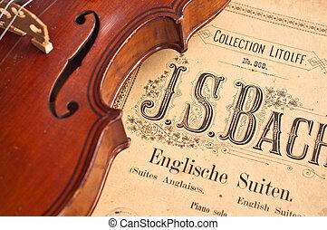 alemão, violino, décimo nono, century.