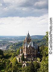 alemanha, drachenburg, castelo