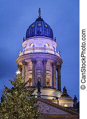 alemanha, igreja, berlim, alemão, gendarmenmarkt