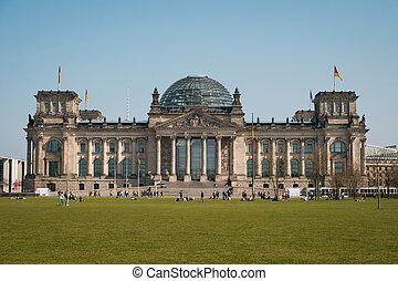 alemanha, predios, (german, government), reichstag, berlim