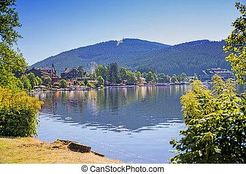 alemanha, titisee, floresta preta, lago