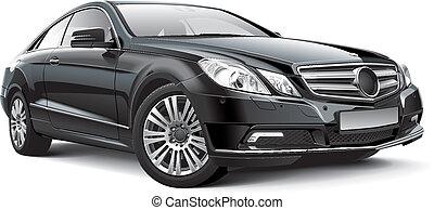alemania, compacto, ejecutivo, coche