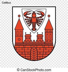 alemania, emblema, ciudad