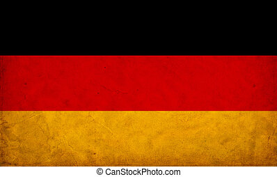alemania, grunge, bandera