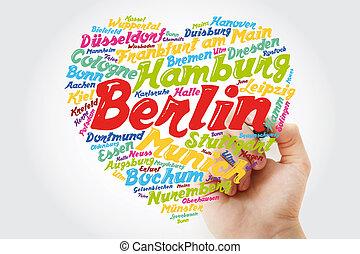 alemania, pueblos, ciudades, lista