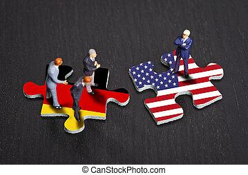 alemania, relaciones, estados unidos de américa, entre