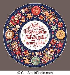 alemania, weihnacht., frohe, navidad, felicitaciones