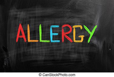 alergia, conceito