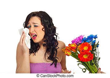 alergia, flores del resorte