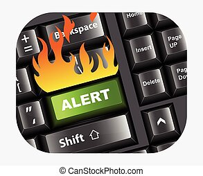 Alert Button in Keyboard Vector