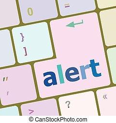 alert button on the keyboard key vector illustration