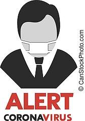 alert corona virus message
