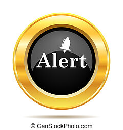 Alert icon. Internet button on white background.