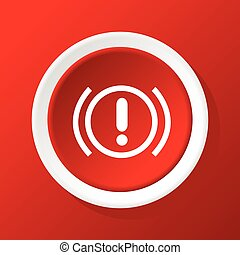 Alert icon on red