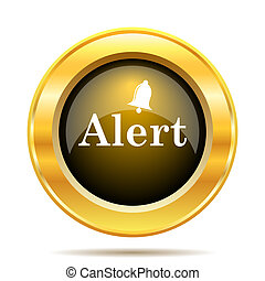 Alert icon. Internet button on white background.