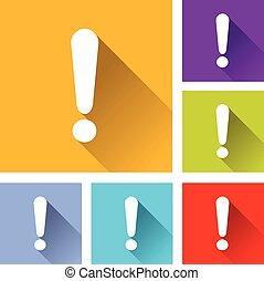 illustration of flat design set icons for alert