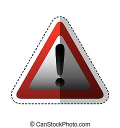 alert sign isolated icon