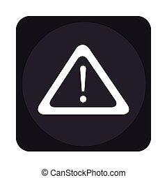 alert symbol isolated icon