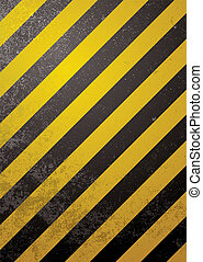 alert warning standard - Traditional black and yellow...