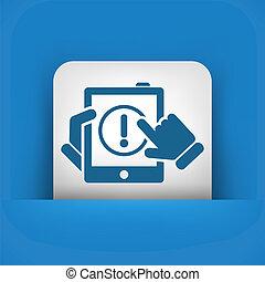 alerta, móvel, dispositivo