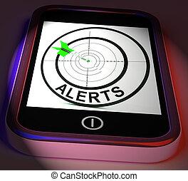Alerts Smartphone Displays Phone Reminder Or Alarm - Alerts...